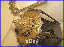 Vintage lamp architectural metal hardware hexagon 4000-T chandlier light parts