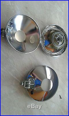 Vintage oem chrome hella lights lamps fog NOS