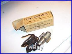Vintage original nos Ford Cowl Dash light automobile lamp kit model A T parts
