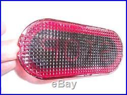 Vtg Antique Jefferson STOP Glass Tail Lamp Brake Light Lens Motorcycle Car Truck