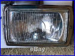 Vtg Sev S. E. V Marchal Driving Fog Assessory Light Lamps Pair 850 859 GT