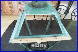 XL Copper Lantern Light Vintage post outdoor lamp pole pedestal 23 decor parts