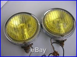 Yellow Fog Lamps Hella Light Lamp Vintage Nebelscheinwerfer Fits Porsche 356 911